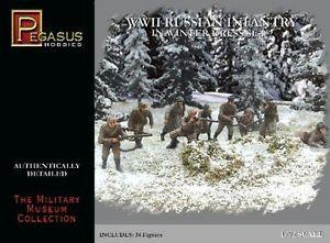 7272 - WWII Russian Infantry in Winter Dress Set 2 1/72