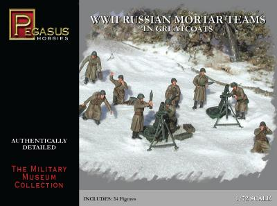 7273 - WWII Russian Mortar Teams in Greatcoats 1/72