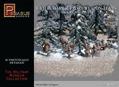 7274 - WWII Russian Support Weapons Teams in Greatcoats 1/72