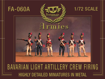 FA-060A Bavarian Light Artillery Crew Firing 1/72