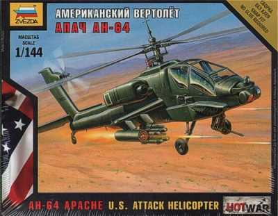 7408 - US AH-64 Apache Attack Helicopter 1/144