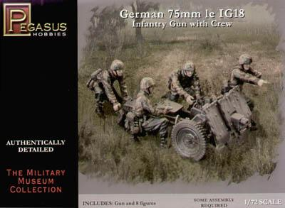 7510 - German 75mm le IG18 1/72