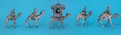 TM023 Kamel-Karawane, Caravan, 5 camels with raiders 1/72