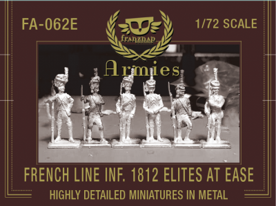FA-062E French Line Infantry 1812 Elites At Ease 1/72