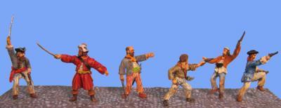 72-8008 - 6 Piraten kaempfen und schiessen 1/72