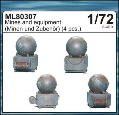 ML80307 - Mines and equipment 1/72