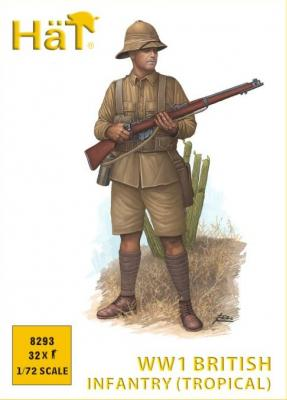 8293 - WWI British Infantry (tropical dress) 1/72