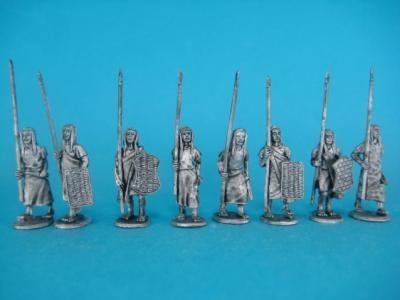 He-05 Hittites - infantry advancing, 16 items. c. 1500-850 BC