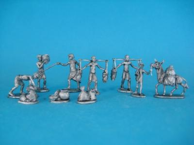ÄG-09 Egyptians - loading, 11 parts. 1/72