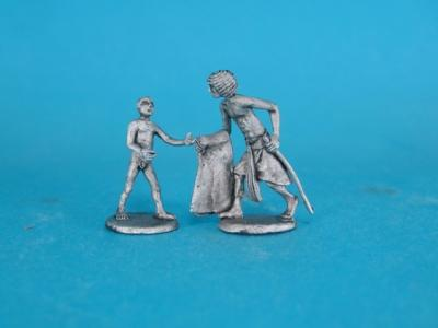 ÄG-12 Egyptians - Soldier and a boy, 2 parts. 1/72