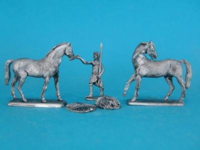 ÄG-15 Egyptians - Horses feeding I, 5 parts. 1/72