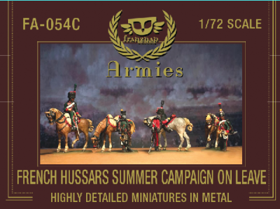FA-054C French Hussars Summer Campaign Dress on leave 1/72