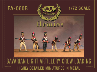 FA-060B Bavarian Light Artillery Crew Loading 1/72