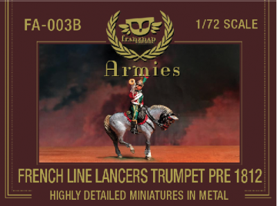 FA-003B: FRENCH LANCERS TRUMPET PRE 1812 metal 1/72