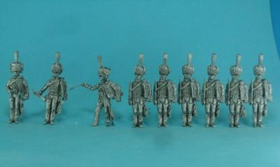 PF-F03 Hussars with Kolpak at the morning parade. 1/72