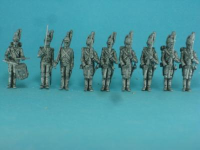 PF-F06a Investiture by the emperor, Dragoons by foot, parade, part 1. 1/72