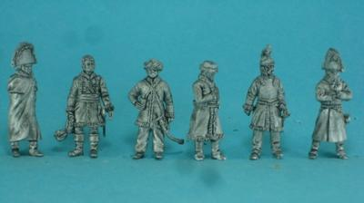 PF-F07a 1812 Bruning the flags, officers 1/72