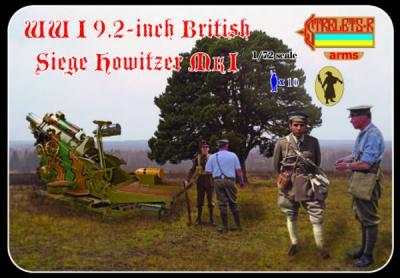 A012 - WWI 9.2-inch British Siege Howitzer MI 1/72