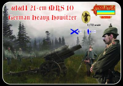 A013 - WWI 21 cm MRS 10 German Heavy Howitzer 1/72