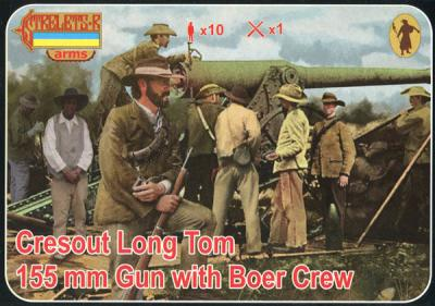 A014 - Cresout Long Tom 155 mm with Boer Crew (Anglo-Boer War) 1/72