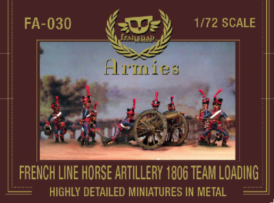 FA-030 - French Line Horse Artillery 1806 Team Loading 1/72