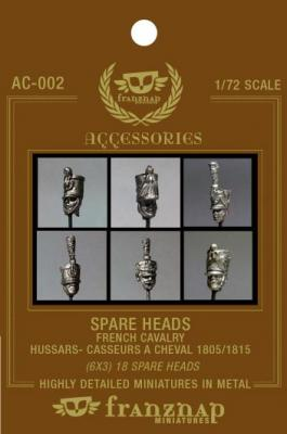 AC-002 - Spare heads French Cavalry : Hussars/Chasseurs a Cheval 1805 1815 1/72