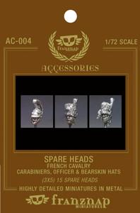 AC-004 - Spare Heads French Cavalry : Carabiniers Officer & Bearskin hat 1/72