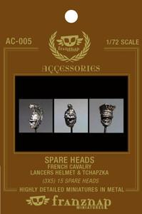 AC-005 - Spare Heads French Cavalry : Lancers Helm & Tchapzka 1/72