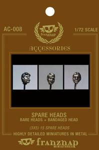 AC-008 - Spare Heads Bare Heads - Bandaged Head 1/72