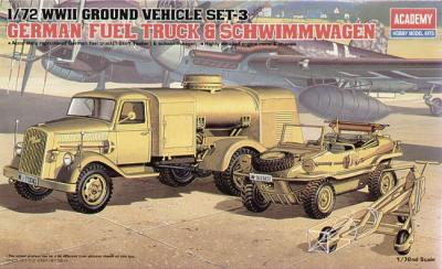 13401 - WWII German Fuel Truck and Schwimwagen 1/72