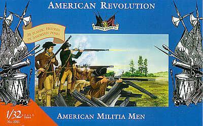 3201 - American Militia Men-American Revolution
