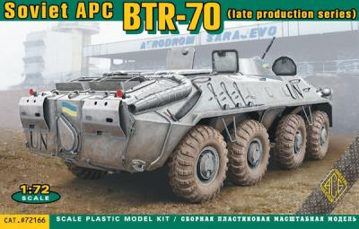 72166 - Soviet BTR-70 armored personnel carrier late production 1/72