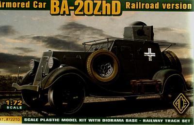 72210 - Russian BA-20M ZhD Armored Car (Railroad version) 1/72