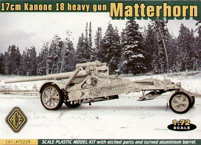 72229 - 17cm Kanone 18 Matterhorn 1/72