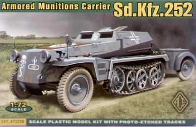 72238 - German Sd.Kfz.252 armoured munitions carrier (VINYL tracks) 1/72