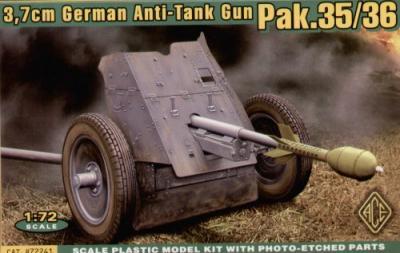 72241 - 3.7cm Pak-36 1/72