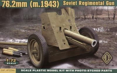 72244 - Russian 76mm Regimental Gun Mod.1943 1/72