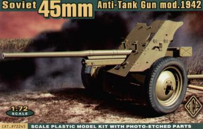 72245 - Russian 45mm Anti-Tank gun mod.1942 1/72