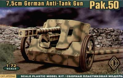 72246 - 7.5cm PaK-50 Anti-Tank gun 1/72
