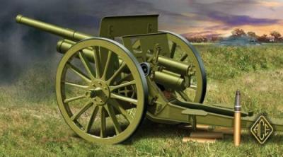 72252 - 76.2mm (3 inch) Soviet gun model 1902/1930 (with limber) 1/72