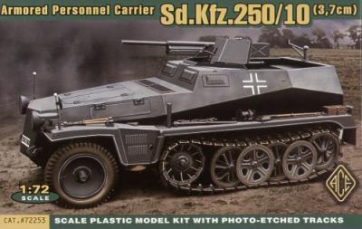 72253 - German Sd.Kfz.250/10 Leichter Schutzenpanzerwagen (3.7cm) 1/72