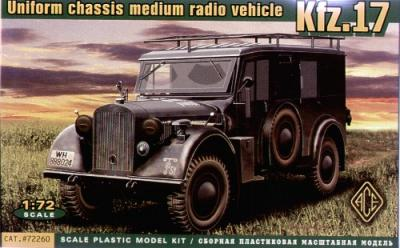 72260 - Kfz.17 Uniform Chassis Radio Vehicle 1/72