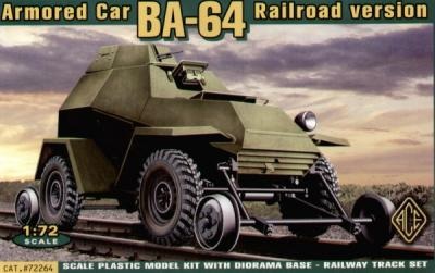 72264 - Russian BA-64B Railroad Version 1/72