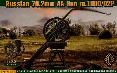 72265 - Russian 76.2mm AA Gun m.1900/02P 1/72
