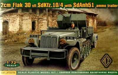 72278 - 20mm Flak 30 Sd.Kfz.10/4 with Sd.Anh 32 Ammo Trailer 1/72