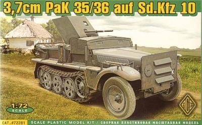 72281 - 37mm PaK-35/36 auf Sd.Kfz.10 1/72