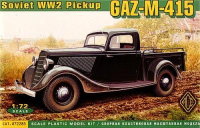 72285 - Russian GAZ-11-415 Pick Up 1/72