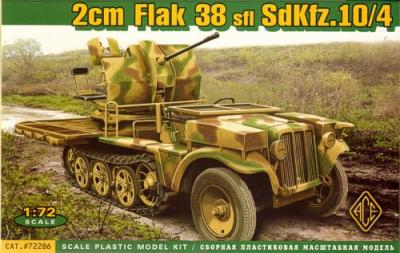 72286 - 20mm Flak 38 sfl Sd.Kfz.10/4 1/72
