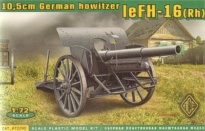 72290 - 10.5cm leFH-16(Rh) (WWI German Howitzer) 1/72