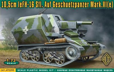 72293 - 10.5cm le FH-16 Sfl. Ausf.Geschuetzpanzer Matk.VI(e) 1/72